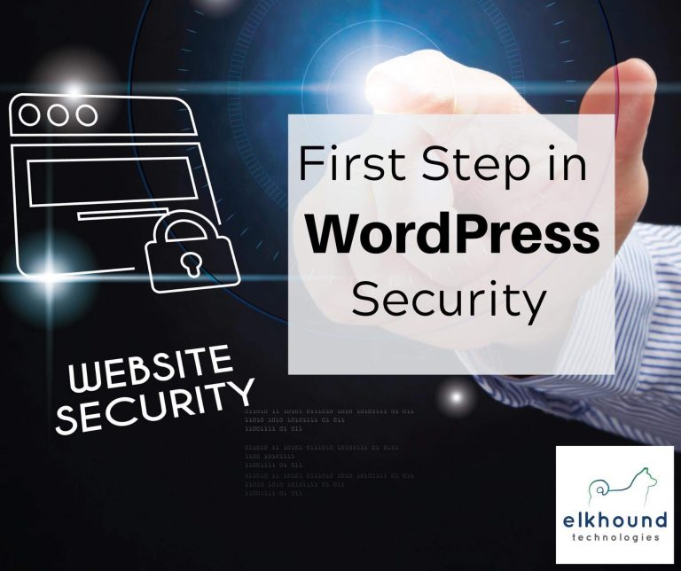 The First Step In WordPress Security