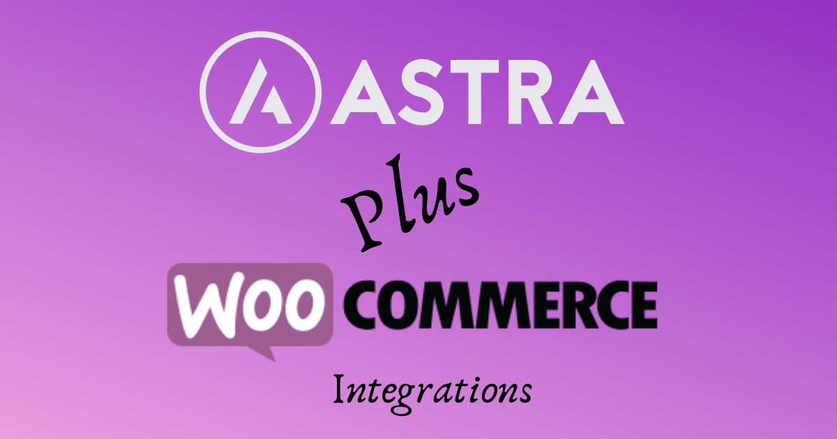 astra and woocommerce logo
