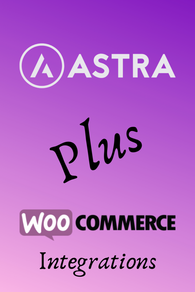 astra and woocommerce logos for pinterest